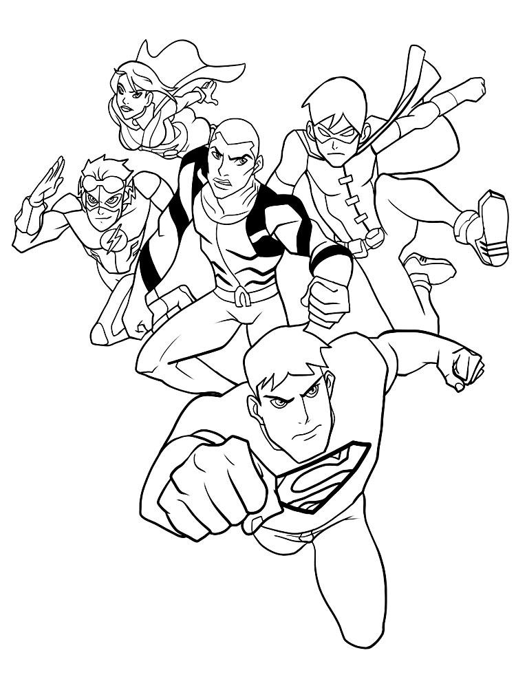 100+ ideas Dibujo De La Liga De La Justicia Para Colorear on ...