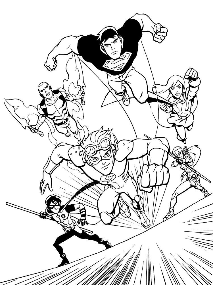 Worksheet. Imprimir gratis dibujos para colorear  Liga de la Justicia