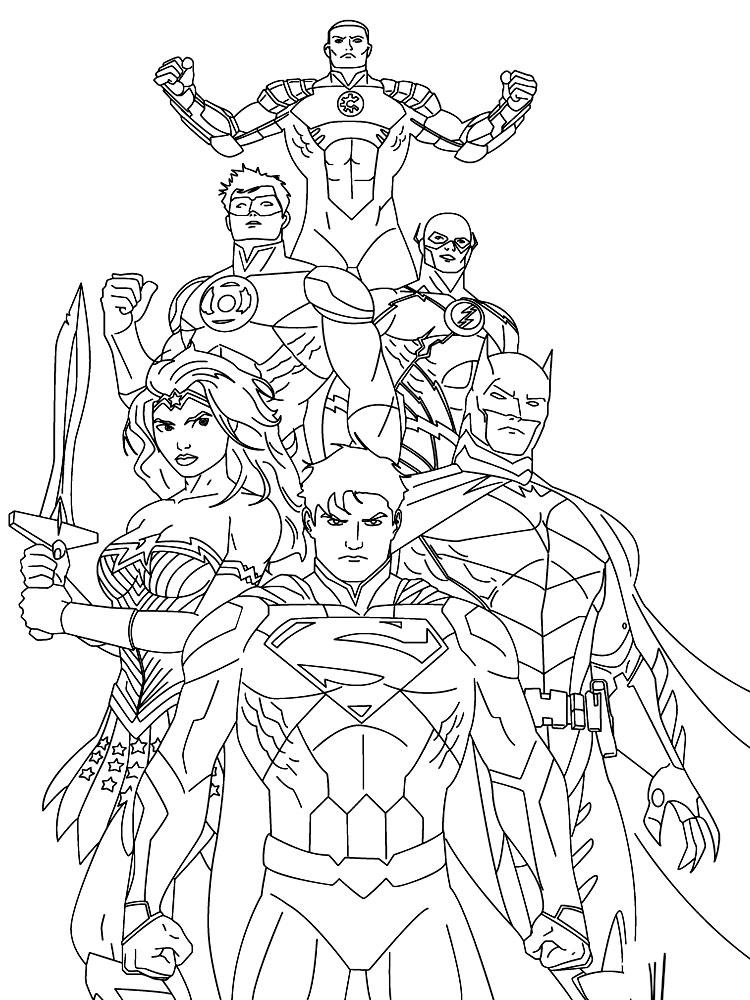 Liga De La Justicia Dibujos Infantiles Para Colorear
