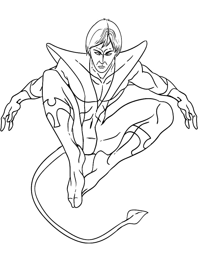 dibujos para colorear x men: