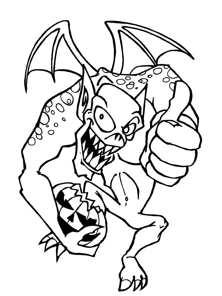 Dibujos para colorear - monstruos.