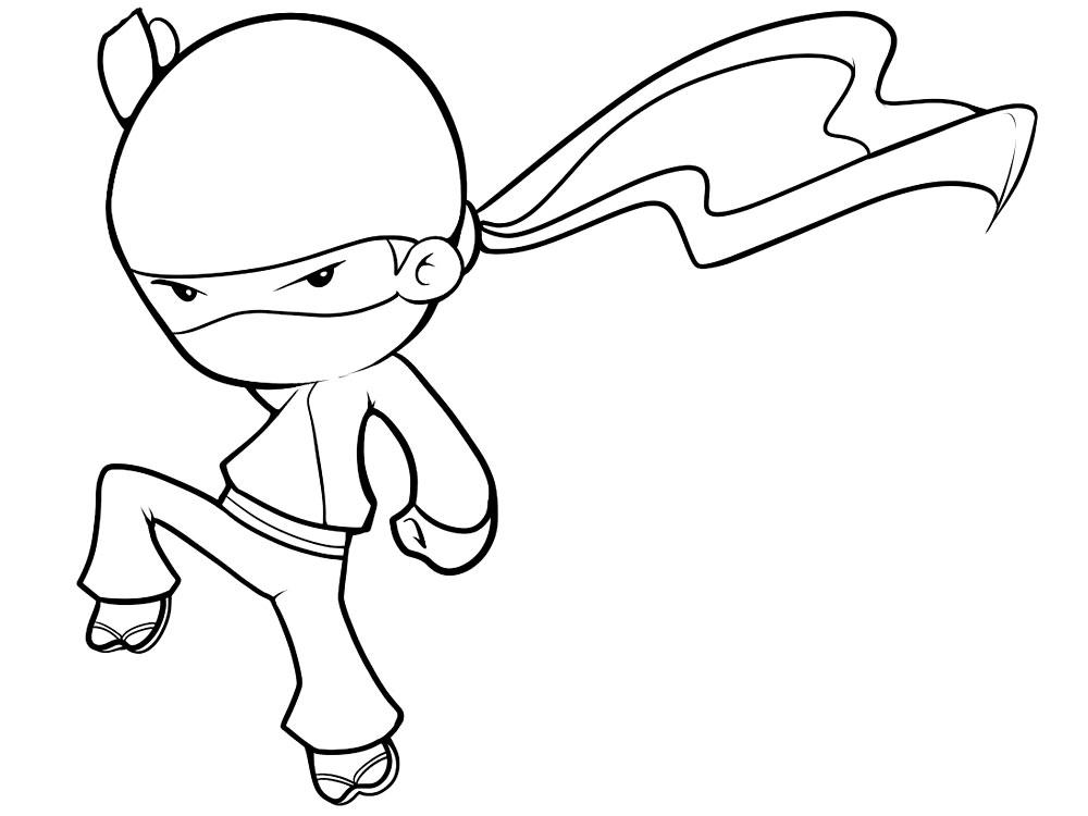 Dibujos Para Colorear Ninja