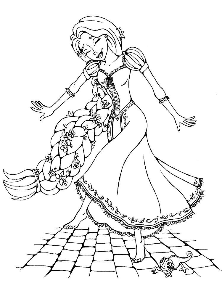 Dibujos De Rapunzel Para Colorear E Imprimir