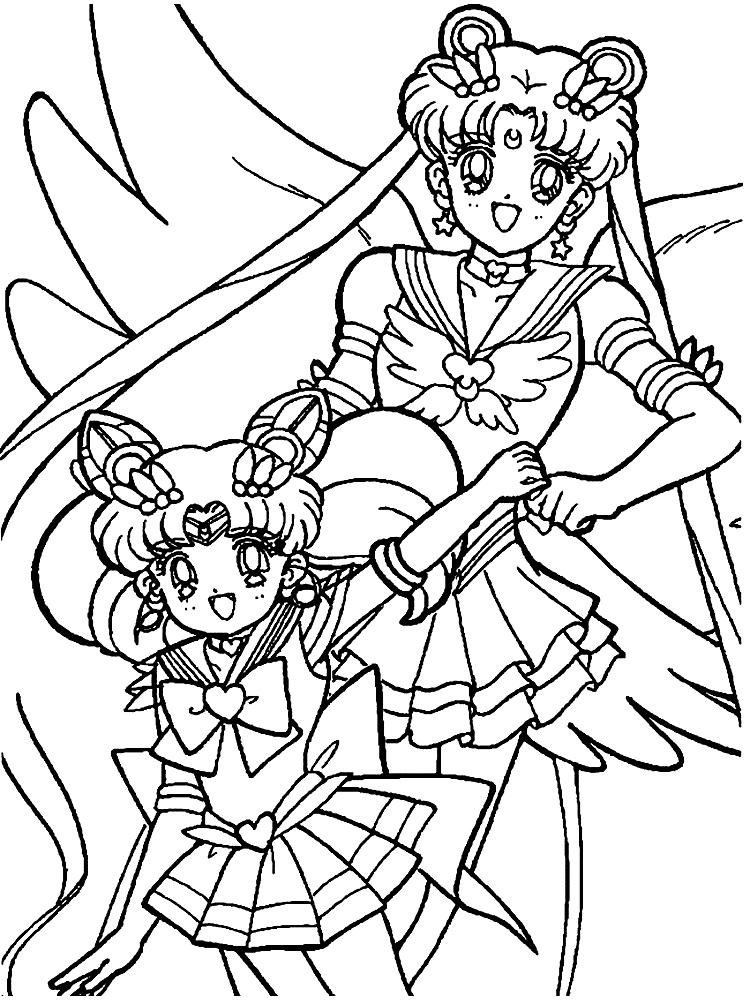 Dibujos Para Colorear Sailor Moon Imprimir Gratis
