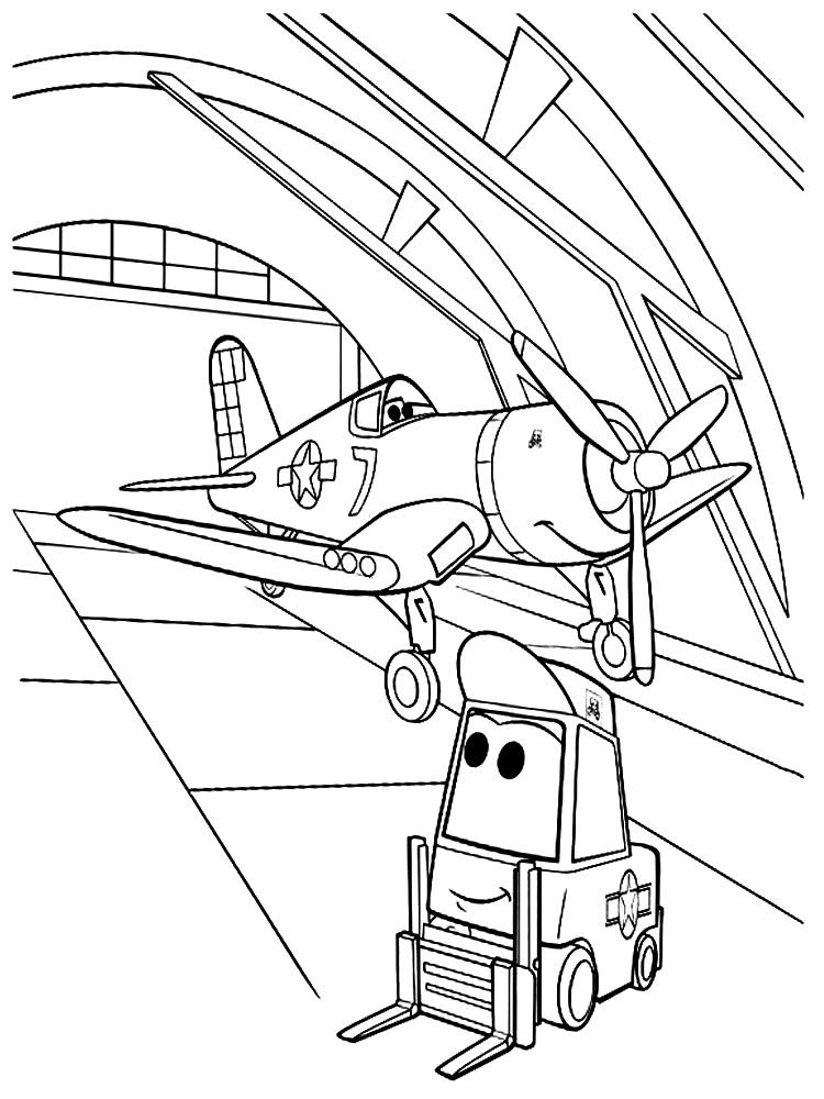 Dibujos para colorear – aviones, imprimir gratis