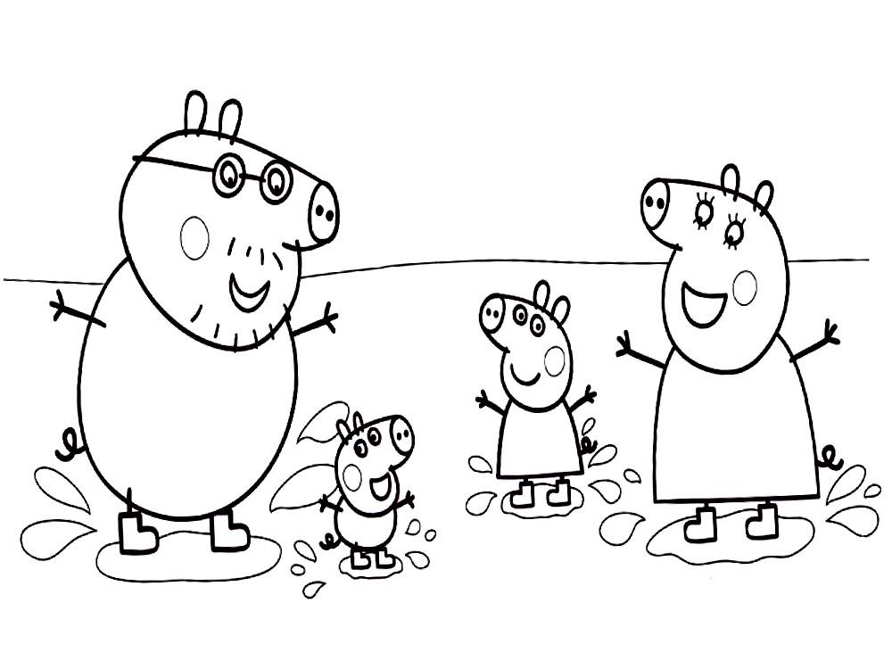 Descargar dibujos para colorear - Peppa Pig.