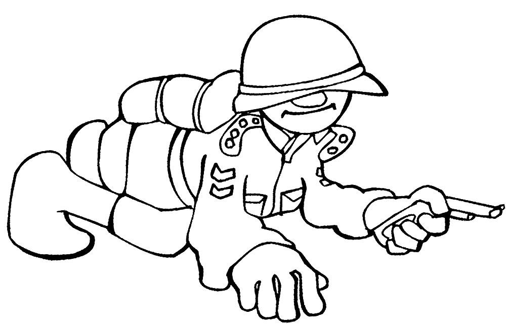Dibujos Para Colorear Militar Imprimir Gratis