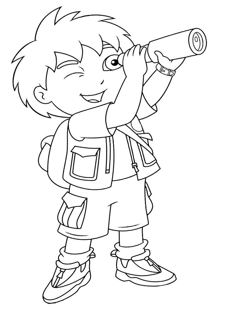 Go diego dibujos infantiles para colorear - Dibujos infantiles de bebes ...
