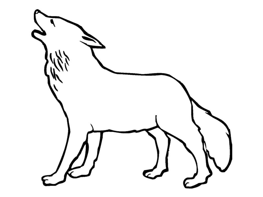 Dibujos infantiles para colorear – lobos, para desarrollar ...